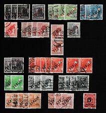 Berlin 1948/1949 schwarzer/roter Aufdruck, aus Mi.Nr. 2 - 32 gest.