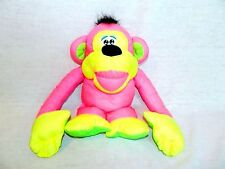 VTG Fisher Price CHATTERING CHIMP Pink Yellow Monkey w Sound puffalump 1994