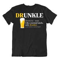 Druncle Beer Definition T-SHIRT Normal Uncle Men's Humor TEE Drunker Shirt