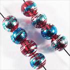 Lot de 50 perles en verre Décorées 6mm Rouge