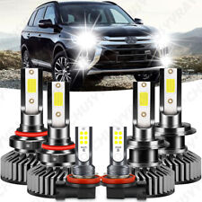 For Mitsubishi Outlander 14-18 6x 9005 H7 Headlight H11 H16 Fog Light LED Bulbs