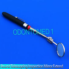 "ODM,1"" Round Inspection Mirror 6 1/2'',19 1/4'' Telescoping Cushion Grip Handle"