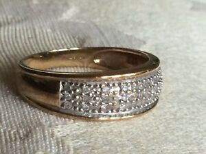 Diamond Ring  ring size J 9ct yellow gold fully stamped