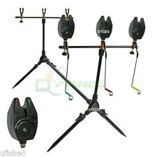 Carp Fishing Pod & Alarms With Swingers 3 Bite Alarms, 3 Rod Rests & Bag NGT