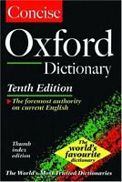 The Concise Oxford English Dictionary: Thumb Index