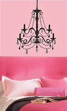 "CHANDELIER Giant Wall Sticker w/20 Gem 38 decals light 25"" x 36"" BLACK RoomMates"