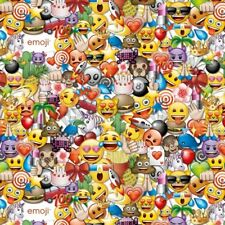 Fabric Emoji Party Full on Cotton by the 1/4 yard
