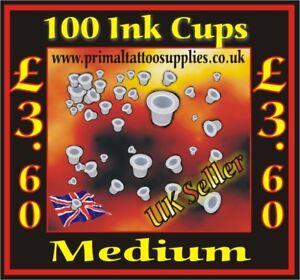 Ink Cups Medium - Bag of 100 pcs (Tattoo Needles - Tattoo Supplies - Tips)