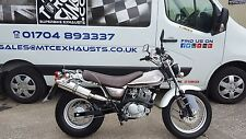 Suzuki RV125 RV200 Van Van 2003-18 Stainless Round ROAD LEGAL Performace Exhaust