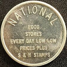 National Food Stores aluminum token! Good for 15 Cents on purchase of $5.00!