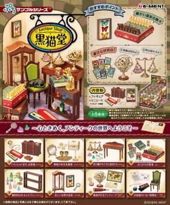 Pre 9/2  Re-Ment miniature Black Cat Antique shop  Furniture Full 8 BOX
