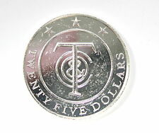 Sterling Silver Tiffany 25 Dollar Coin Money Redeemable Merchandise Gift Token