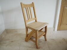 Library step chair solid mahogany ready to finish step chair solid wood folding