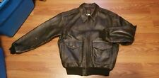 VTG AVIREX TYPE A-2 LEATHER FLIGHT JACKET ARMY AIR FORCE SZ L MADE IN USA