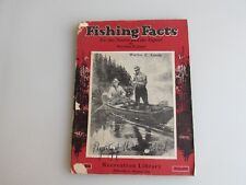 """Outdoor Life Recreation Library """"Fishing Facts"""" Book 1935 Fair/Good Condition"""