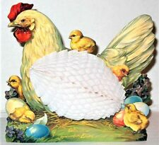 CHICKEN HEN 3D EASTER CARD w/Honeycomb EGG! Stand up Display MINT Shackman