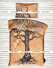 Craft Indian Twin Size Duvet Cover With Pillow Case Dry Tree Bedding Pattern Art