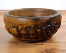 Wooden Fruit Bowl Bread Basket Fruits Carvings Handmade Decorations Thailand