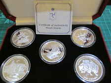 1999 Isle of Man SYDNEY OLYMPIC GAMES Sterling silver proof 4 coin set BOX/COA