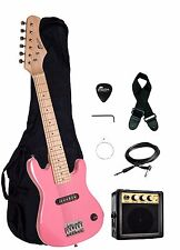 "Raptor 30"" 1/2 Size Kids Electric Guitar Package with Amp, Bag, Picks - 6 COLORS"