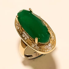Silver Two Tone Christmas Jewelry Gifts Natural Emerald Wedding Ring 925 Stering
