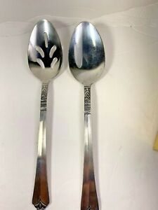 Orleans Silver ORL31 Serving & Slotted Spoons Stainless Flatware Stacie S Scroll