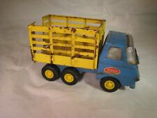 TONKA BLUE AND YELLOW FARM LIVESTOCK TRUCK 1960S 1970S PRESSED STEEL OLD