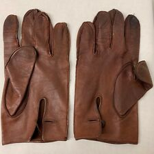 RAF & ARMY BROWN LEATHER OFFICERS MEN'S DRESS GLOVES - No size , British Issue