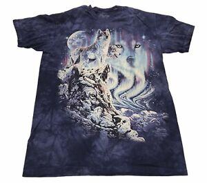 The Mountain Find 10 Wolves Purple Tye Dye T-Shirt Size Large