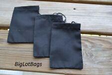 3 x 5 Inches Single Drawstring Bag. Black Color High Quality Bags. - 100
