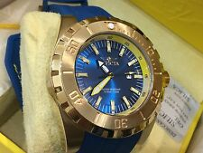 23736 Invicta 52mm Mens Pro Diver Quartz 18KT Gold-Plated Case Poly Strap Watch