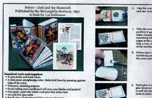 1:12 Paper Mini Dollhouse size Book Kits ~ Jack in the Beanstalk~Loved the Book!
