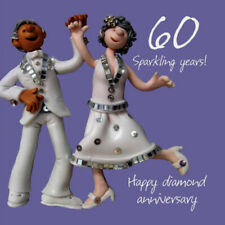 60th Wedding Anniversary Card - 6 x 6 Inches - One Lump Or Two