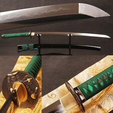 T10 Steel Clay Tempered Samurai Sword Japanese Katana Sharp Blade Can Cut Bamboo