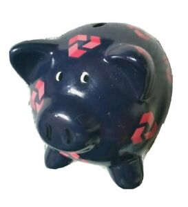 """Nat West National Westminster Bank Pig Piggy  Pottery Money Box with Stopper 4"""""""