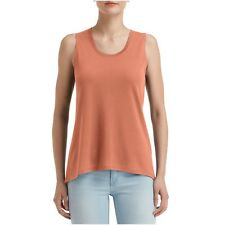 Ladies Loose Drape Fit Sleeveless Casual Comfy Flowy Vest Tank Top A-Line Summer