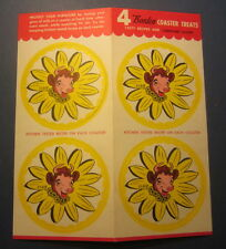 Old Vintage 1950's ELSIE The COW - BORDEN - 4 Advertising COASTERS Sheet Recipes