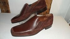 Size 42 Mid Brown Slip on Casual Leather & Suede Shoes by Panelli. Brand New