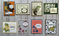 8 Handmade Mother's Day Father's Day greeting cards envelopes Stampin' Up! +more