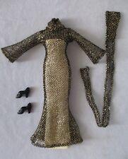 Vintage Mego Cher Starlight Black and Gold Jumpsuit  – 1976 Bob Mackie - Mint !