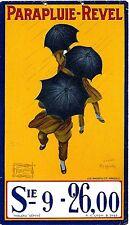 Original vintage poster REVEL UMBRELLAS 1922 Cappiello Tin