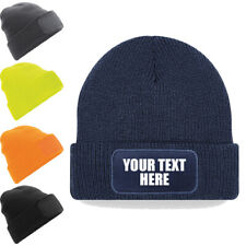 Custom Printed Thinsulate Lined Beanie Unisex Cuffed Woolly Hat Personalised