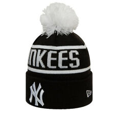 New Era Men's New York Yankees Bobble Knit Beanie - Black BNWT