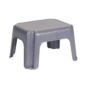 Rubbermaid Durable Plastic Kids Step Stool w/ 200 Pound Weight Capacity, Gray