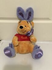 Easter Bunny + Slippers Pooh Plush Disney Store Exclusive Rare!