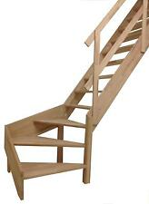 Massivholz-wangentreppe »rhodos« ¼ Gewendelt mit Metall-holzge