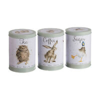 Wrendale Owl, Hare & Duck Tea, Coffee & Sugar Canisters