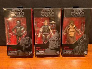 STAR WARS Black Series DENGAR 4-LOM ZUCKUSS 3 FIGURE SET - MINT / NEAR MINT
