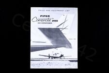 PIPER Vintage OEM Comanche 250 Price Equipment List Rare 1958 USA Fold Gift