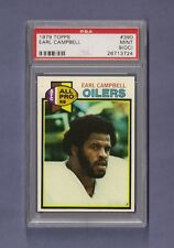 1979 Topps Earl Campbell #390 HOF Rookie PSA 9 OC ONLY ON BACK